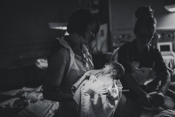 West Midlands Newborn Photographer | Documenting the birth of Alfie